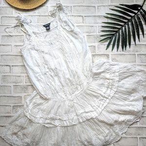 Boho chic white dress by MODA international
